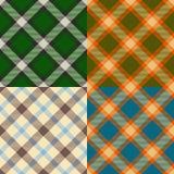 Reticoli del plaid di colore determinati Immagini Stock Libere da Diritti