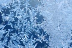 Reticoli di gelo su vetro Fotografia Stock