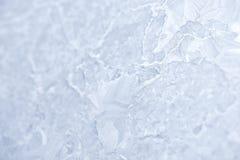 Reticoli di gelo sul vetro di finestra in inverno Struttura di vetro glassato bianco Fotografia Stock Libera da Diritti