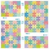 Reticoli di puzzle illustrazione di stock