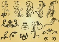 Reticoli e bordi di fiore illustrazione di stock
