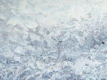 Reticoli gelidi sul vetro Fotografia Stock Libera da Diritti