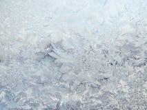 Reticoli gelidi sul vetro Immagini Stock Libere da Diritti