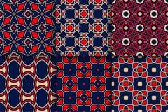 Reticoli geometrici Raccolta degli ambiti di provenienza senza cuciture colorati Fotografia Stock Libera da Diritti