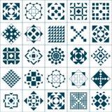 Reticoli geometrici stabiliti Immagini Stock Libere da Diritti