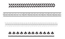 Reticoli semplici del bordo del greco antico illustrazione vettoriale