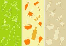 Reticoli senza giunte: Tema del ristorante Fotografia Stock