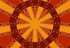 Reticoli tribali in oro del Brown Fotografie Stock Libere da Diritti