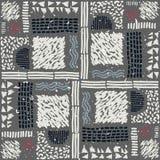 Reticolo africano senza giunte Modello etnico sul tappeto Immagini Stock