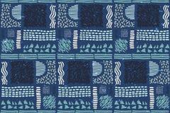 Reticolo africano senza giunte Modello etnico sul tappeto Immagine Stock Libera da Diritti