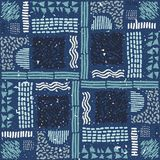 Reticolo africano senza giunte Modello etnico sul tappeto Fotografia Stock