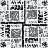 Reticolo africano senza giunte Modello etnico sul tappeto Immagine Stock