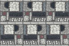 Reticolo africano senza giunte Modello etnico sul tappeto Fotografie Stock Libere da Diritti