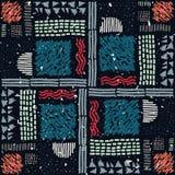 Reticolo africano senza giunte Modello etnico sul tappeto Fotografie Stock