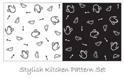 Reticolo alla moda della cucina royalty illustrazione gratis