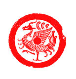 Reticolo antico cinese delle mattonelle Immagine Stock