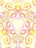 Modello Artsy rosa di turbinii dell'oro Fotografia Stock Libera da Diritti