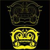 Reticolo asiatico di arte della mascherina del drago di stile Fotografia Stock