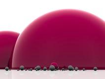 Reticolo astratto dalle sfere Fotografia Stock