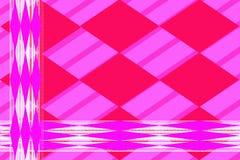 Reticolo astratto geometrico Rombi prolungati lilla contro le linee bianche illustrazione vettoriale