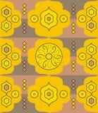 Reticolo astratto giallo illustrazione vettoriale