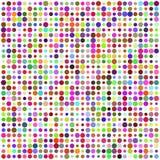 Reticolo astratto multicolore del retro cerchio illustrazione di stock