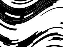 Reticolo astratto Struttura con ondulato, linee delle curve Priorità bassa ottica di arte illustrazione vettoriale