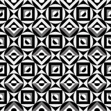 Reticolo in bianco e nero geometrico Fotografia Stock Libera da Diritti