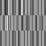 Reticolo in bianco e nero senza cuciture - righe Immagini Stock Libere da Diritti