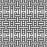 Reticolo in bianco e nero senza giunte astratto Immagini Stock Libere da Diritti