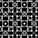Reticolo in bianco e nero senza giunte dell'ornamento Fotografie Stock Libere da Diritti