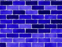 Reticolo blu dei mattoni Fotografia Stock Libera da Diritti