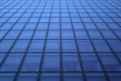 Reticolo blu delle finestre Fotografia Stock
