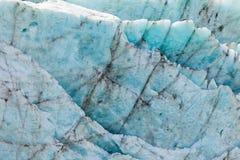 Reticolo blu di struttura della priorità bassa del ghiaccio del ghiacciaio Immagini Stock