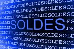 Reticolo blu di vendite Fotografie Stock