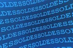 Reticolo blu di vendite Fotografia Stock