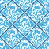 Reticolo blu semplice Fotografia Stock