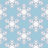 Reticolo blu senza giunte con i fiocchi di neve Immagini Stock