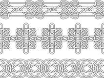 Reticolo celtico del bordo Fotografie Stock