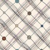Reticolo Checkered dei filetti Immagine Stock