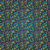 Reticolo Colourful dell'annata su un fondo blu illustrazione vettoriale
