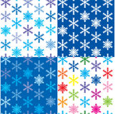 Reticolo con differenti fiocchi di neve di colore Immagini Stock