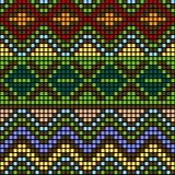 Reticolo con gli elementi multicolori Fotografia Stock