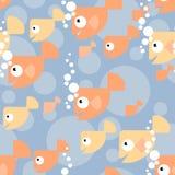 Reticolo con i pesci dell'oro Immagini Stock Libere da Diritti