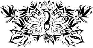 Reticolo con un uccello magico royalty illustrazione gratis