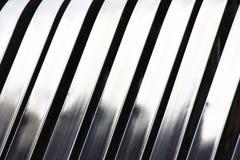 Reticolo d'argento astratto di alluminio della banda Fotografie Stock Libere da Diritti