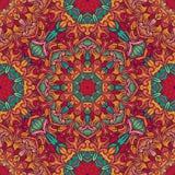Reticolo decorativo senza giunte Ornamento con gli elementi del mosaico Fotografia Stock
