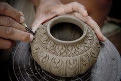 Reticolo decorativo sul vaso Immagini Stock Libere da Diritti