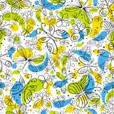 Reticolo dei butterflyies di tiraggio della mano illustrazione di stock