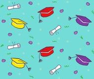 Reticolo dei diplomi e dei cappelli Fotografia Stock